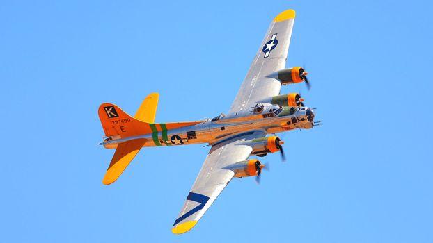 Photo free airplane, bright, orange