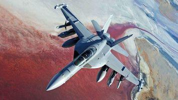 Бесплатные фото самолет,сверхзвуковой,истребитель,высота,полет,земля,вид