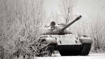 Бесплатные фото танк,зима,пушка,иней,снег,лед,гусеницы
