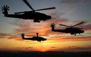 Фото бесплатно вертолет, лопасти, высота