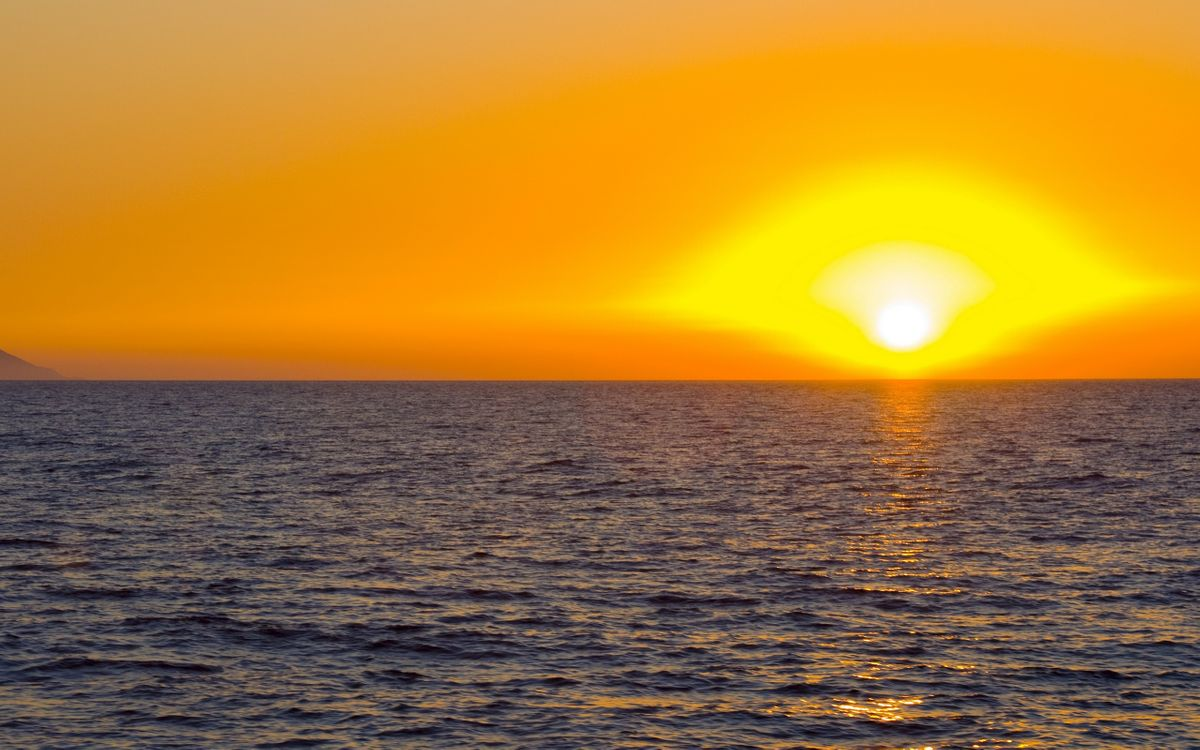 Free photo waves, sun, landscapes - to desktop