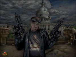 Бесплатные фото жириновский,автомат,америка,юмор