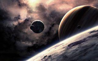 Бесплатные фото новые миры,планеты,газовый гигант,спутники,галактика,космос