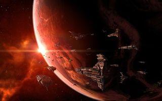 Заставки флот, звёзды, планета