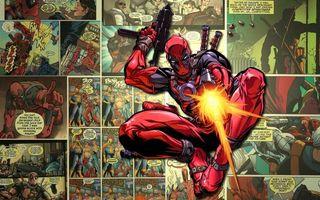 Бесплатные фото comics,marvel,комикс,выстрелы,супер герой,оружие,deadpool