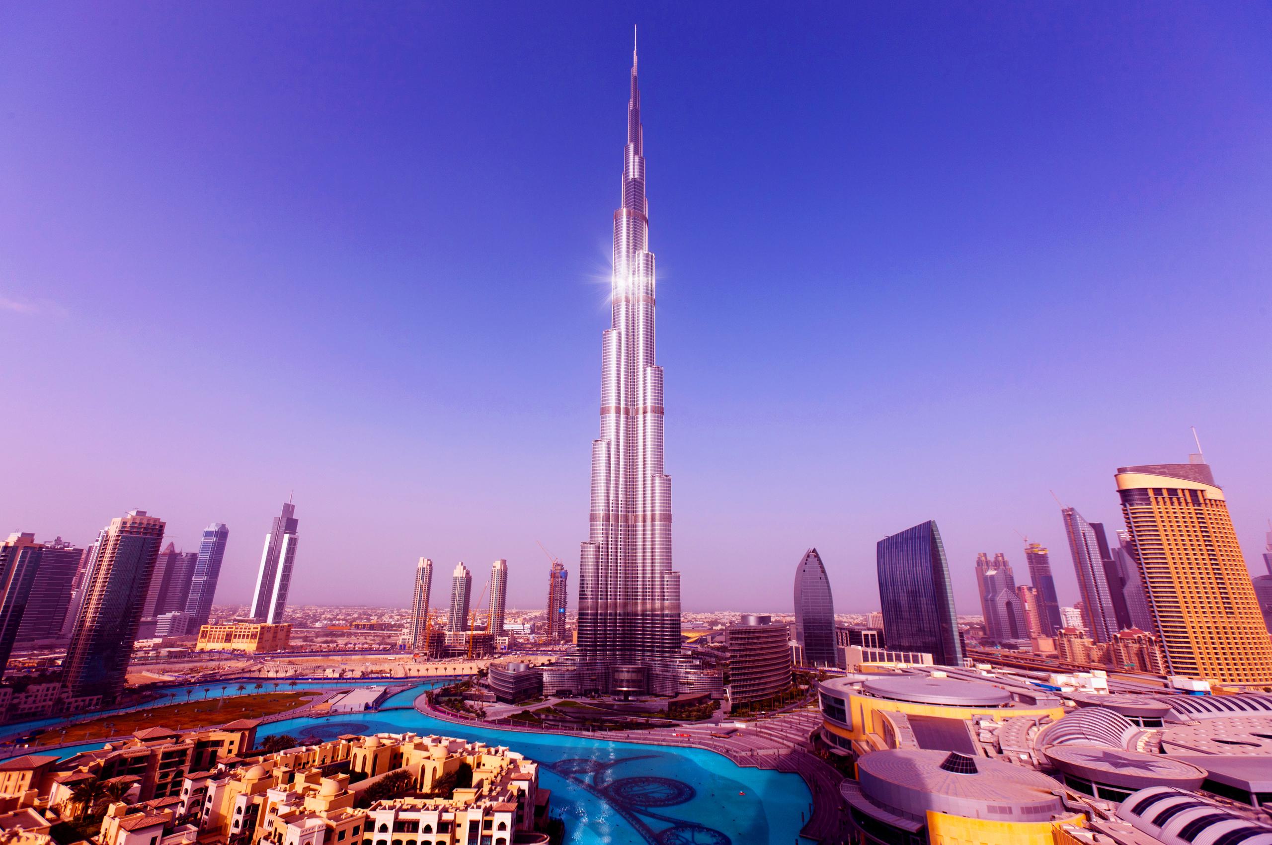 страны архитектура небоскреб рассвет Дубаи объединенные арабские эмираты  № 2209925 без смс