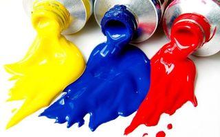 Заставки краски, тюбик, цвета, желтый, синий, красный, разное
