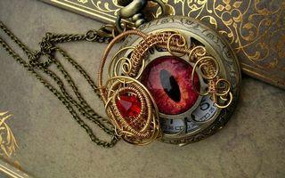 Фото бесплатно часы, глаз, циферблат