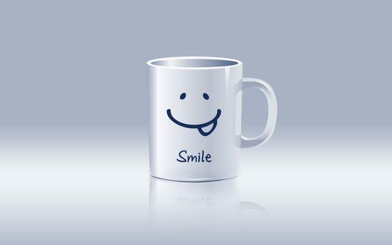 Бесплатные фото кружка,smile,смайлик,на столе,белая,юмор,разное