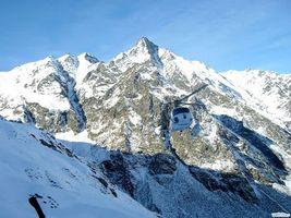 Фото бесплатно вертолет, горы, снег