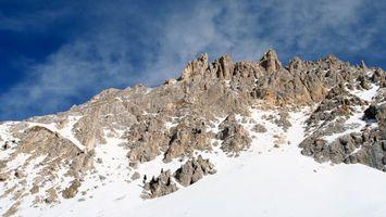 Фото бесплатно гора, снег, высоко