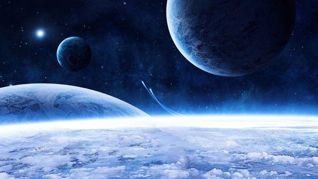 Заставки космос, полет, планеты