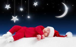 Фото бесплатно малыш, спит, новогодний