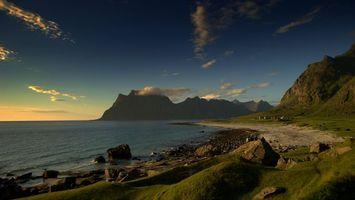 Бесплатные фото море,вода,волны,горы,облака,камни,природа