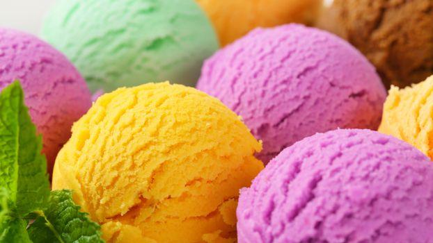 Фото бесплатно мороженое, шарики, разного