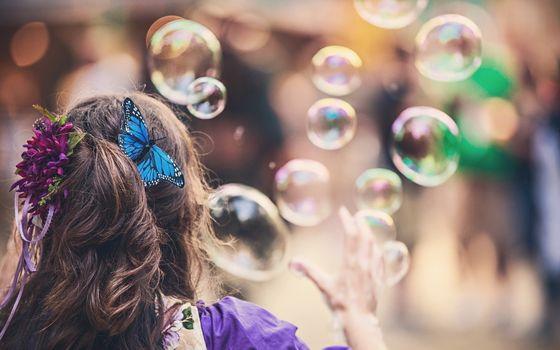 Фото бесплатно мыльный пузырь, свет, блик
