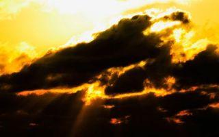 Фото бесплатно небо, желтое, облака