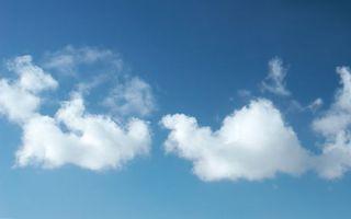 Фото бесплатно белый, облака, небо