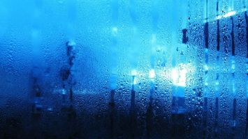 Photo free window, misted, drops