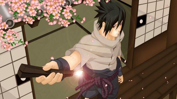 Бесплатные фото sasuke,uchiha,ninja,sword,naruto,man,аниме