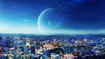 Заставки дома, Голубая, Луна