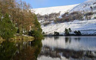 Заставки вода, горы, снег