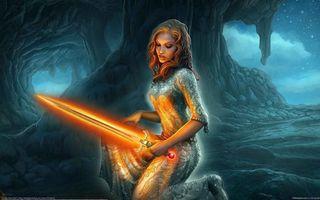 Бесплатные фото warrior,sword,female,фантастика