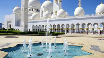 Фото бесплатно замок, белый, фонтан