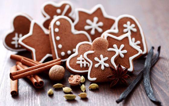 Бесплатные фото сладости,печенье,cookies,macaroon,орешки,праздник