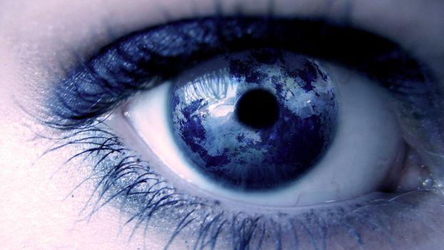Фото бесплатно глаз, женский, планета