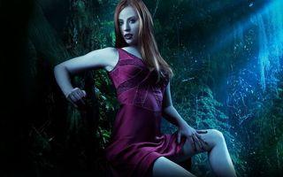 Фото бесплатно бордовое, платье, глаза