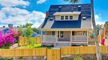 Бесплатные фото дом,сан-диего,улица,забор,балкон,крыша,двери