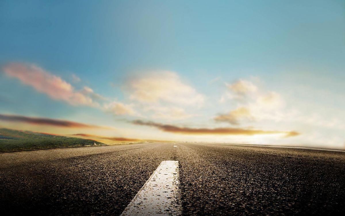 Фото бесплатно дорога, асфальт, разметка - на рабочий стол
