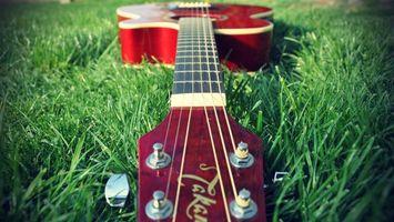 Фото бесплатно гитара, струны, ноты