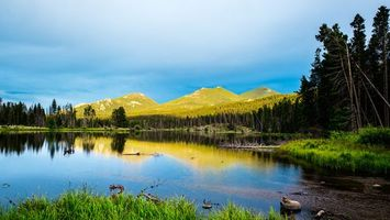 Бесплатные фото горы,лес,деревья,озеро,отражение,трава,пейзажи