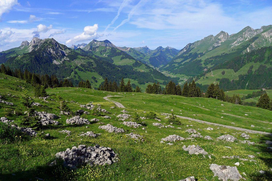 Фото бесплатно горы, камни, трава - на рабочий стол