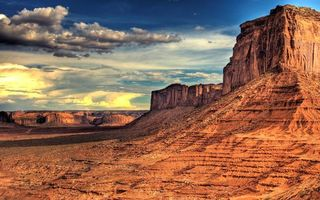 Фото бесплатно горы, песок, холм, солнце, облака, небо, тучи, возвышение, пейзажи, природа