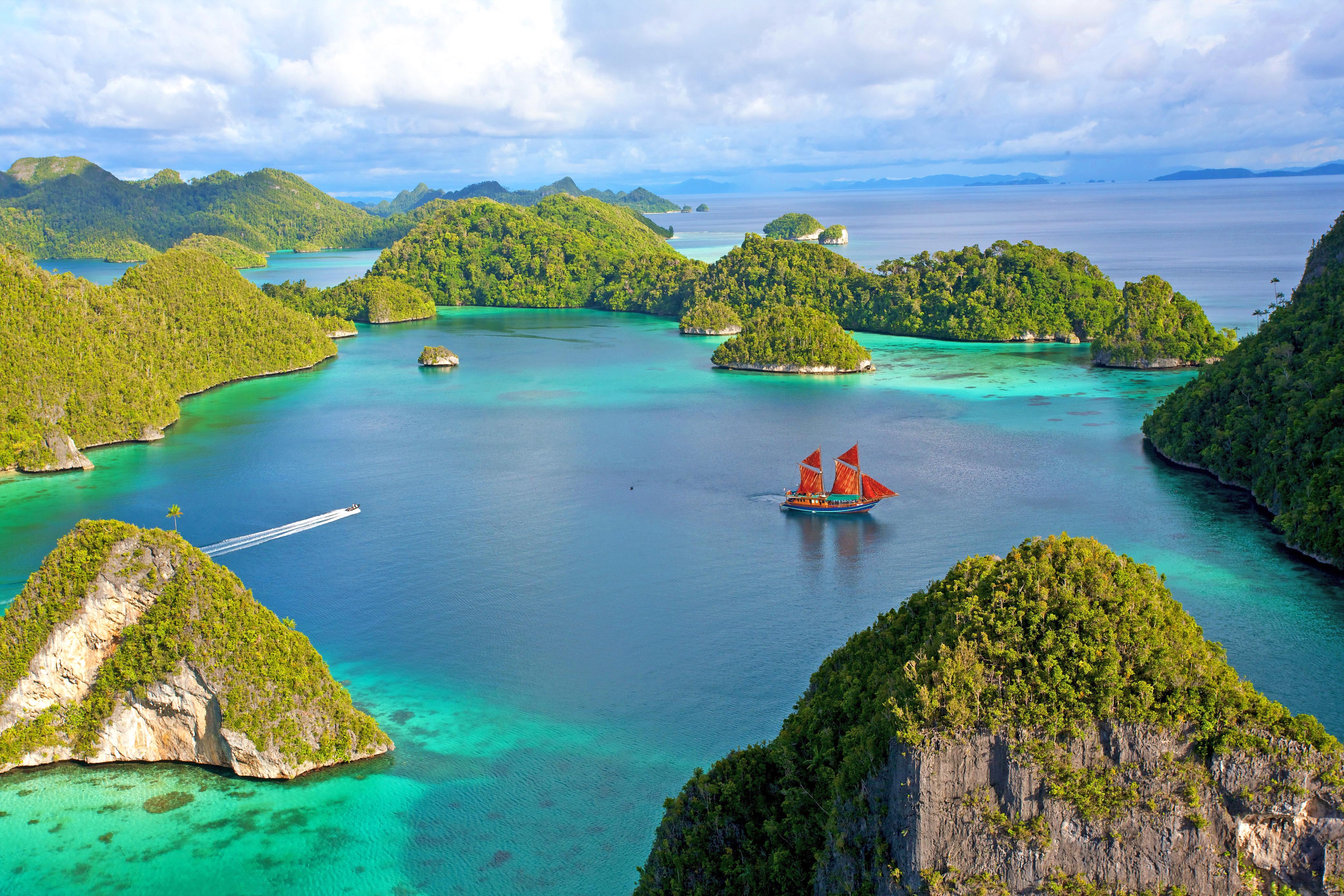 индонезия, море, острова