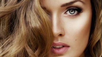 Бесплатные фото лицо, волосы, светлые, губы, глаза, рестницы, девушки