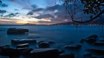 Бесплатные фото море,небо,облака,горы,скалы,туман,свет