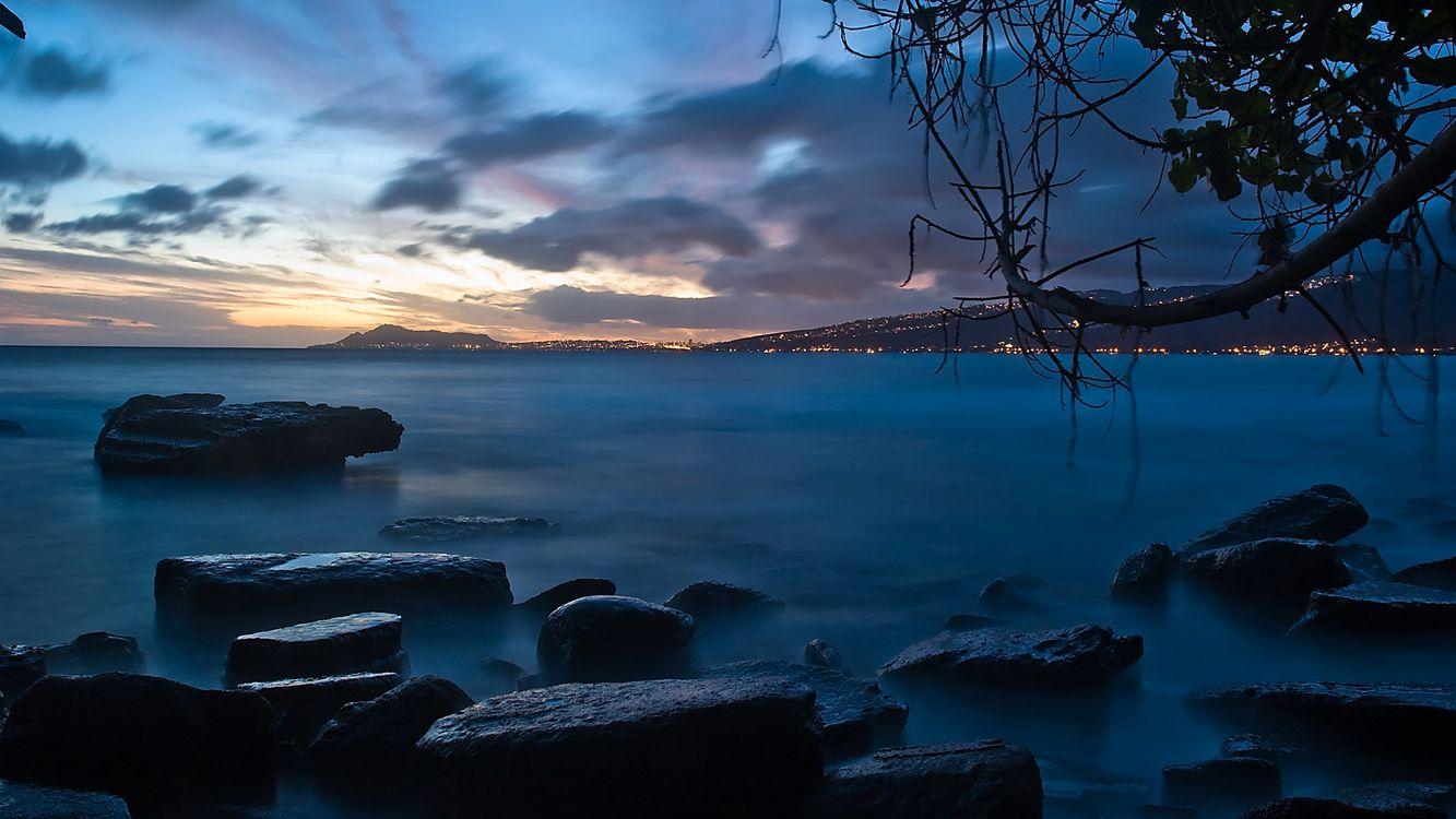 Фото бесплатно море, небо, облака, горы, скалы, туман, свет, закат, листья, природа, пейзажи, пейзажи