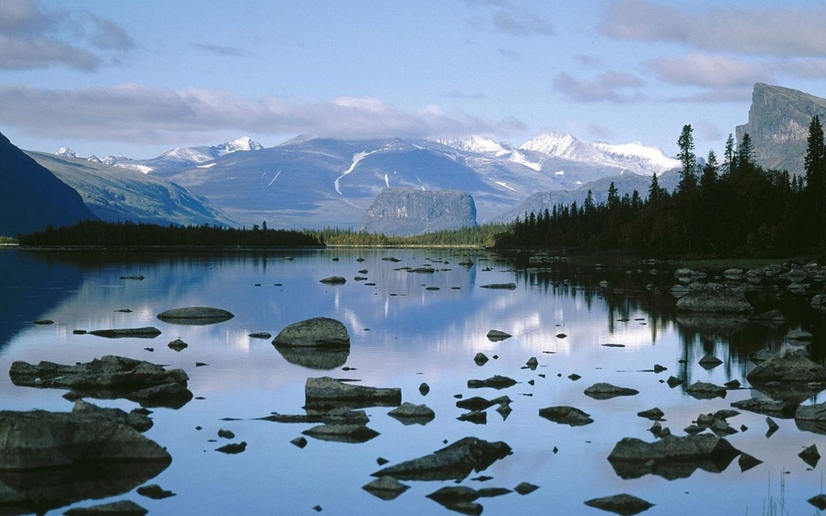 Фото бесплатно озеро, водя, горы - на рабочий стол