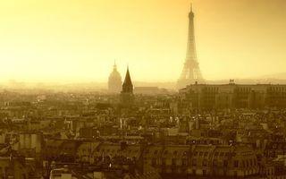 Фото бесплатно париж, эйфелева башня, небо