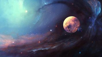 Фото бесплатно космос, планеты, вакуум