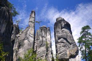 Фото бесплатно скалы, силуеты, облака