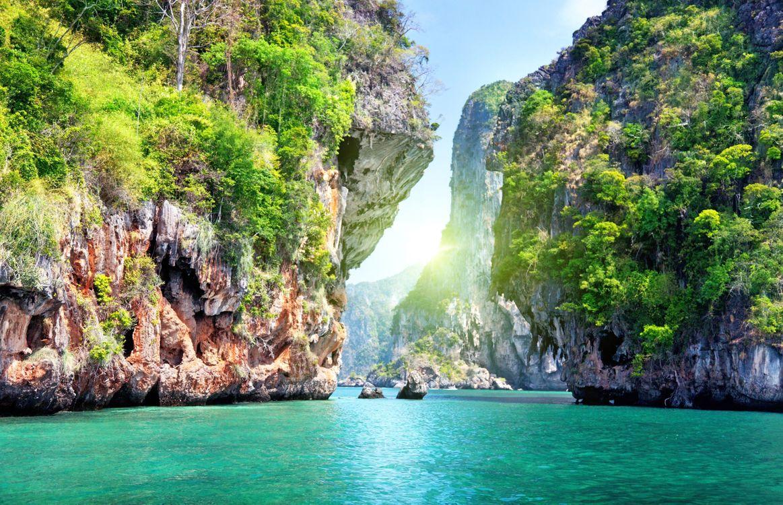 Обои таиланд, море, скалы картинки на телефон