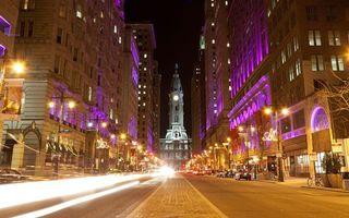 Бесплатные фото улица,street,дорога,огни,машины,дома,небоскребы