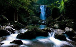 Заставки водопад, камни, вода