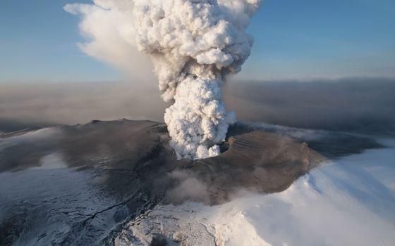 Фото бесплатно вулкан, выброс, пепел
