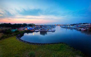 Бесплатные фото залив, море, пристань, лодки, яхты, катера, огни